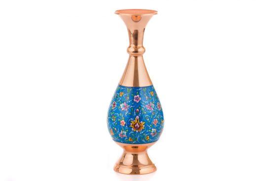گلدان جدید مس و مینا کاری شده دکوری و هنری اصفهان