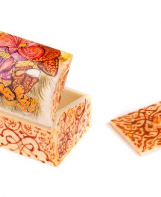 جعبه هدیه دست ساز تزئینی دخترانه اثری لوکس