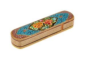 قلمدان چوبی کشویی زیبا و رومیزی طرح دست ساز