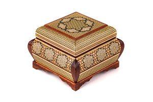 جعبه جواهرات دست ساز چوبی بزرگ