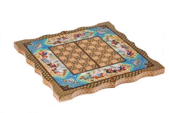 خرید صفحه شطرنج چوبی تاشو خاتم خاص و شیک