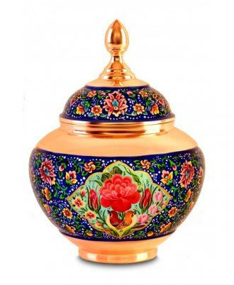ظروف دکوری و تزئینی زیبا مس و مینا میناکاری شده