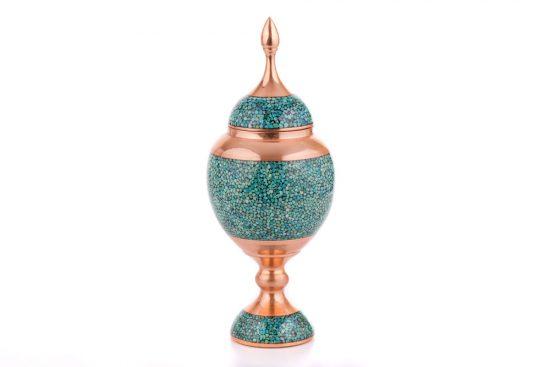 ظرف فیروزه کوب مسی اصفهان | شکلاتخوری |