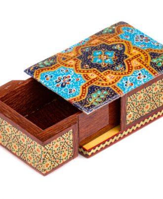 جعبه جواهر خاتم کاری کوچک خرید انواع صنایع دستی