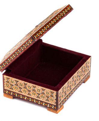 جعبه جواهرات چوبی تزئینی دست ساز شیک و لوکس