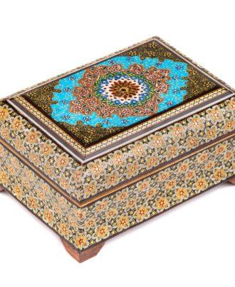 جعبه جواهرات سنتی مخملی با چوب جدید و لاکچری