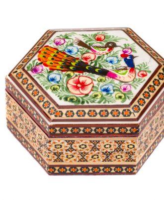 جعبه جواهرات خاتم کاری شده زیبا