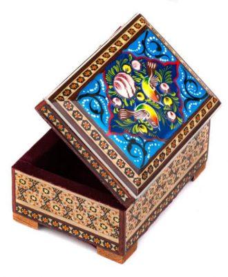 خرید جعبه جواهرات خاتم کاری شیک در اصفهان