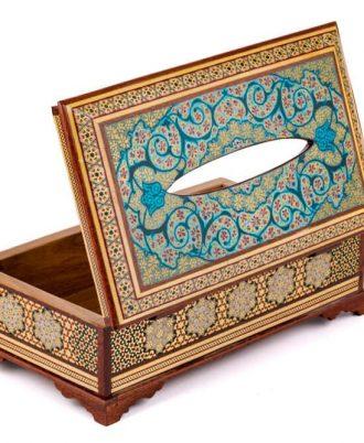 جعبه دستمال کاغذی چوبی اصفهان طرح شیک و لوکس