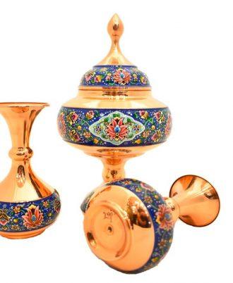 ظروف تزیینی مس و مینا صنایع دستی اصفهان